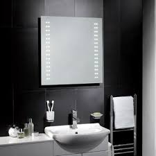 Battery Operated Bathroom Mirror Rhea Led Battery Operated Mirror No Electrical Installation