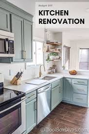 kitchen makeover with cabinets before and after my budget kitchen remodel toolbox divas