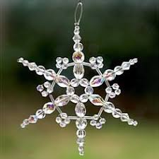 jewelry tutorial on how to make a beaded snowflake