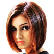 chin cut hairbob with cut in ends dark red blunt cut hair bob for indian girl indian blunt cut