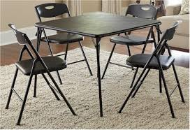 cosco 5 piece card table set black daily cheapskate cosco 5 piece folding card table and chair set for