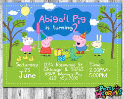 Peppa Pig Birthday Decorations The 25 Best Peppa Pig Birthday Invitations Ideas On Pinterest