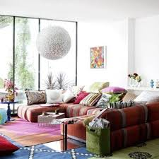 Feng Shui Colors For Living Room Walls Feng Shui Living Room With Striped Color Sofa And White Wall Color