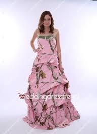 best splendid floor length pink camo wedding dress