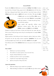 halloween comprehension worksheets worksheets