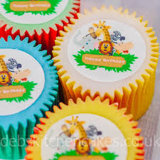 safari cake toppers jungle safari cupcake toppers 4cm x 24 edible wafer already