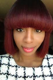 chunky color blonde highlights haircut black women hairstyles