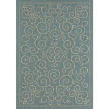 Teal And Green Rug 8 X 10 Outdoor Rugs Rugs The Home Depot