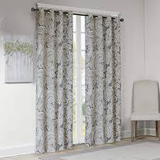 Gray Paisley Shower Curtain by Madison Park Racine Grey Cotton Printed Paisley Curtain Panel