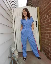 blue jumpsuit costume 70s jean blue jumpsuit bam bam costume hire