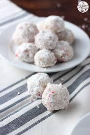 peppermint crunch snowball cookies recipe snowball cookies