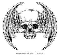skull moon tattoohand pencil drawing on stock illustration