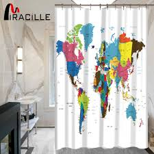 World Map Fabric by Online Buy Wholesale World Map Shower Curtain Fabric From China