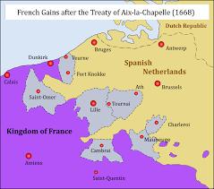 Aachen Germany Map by Treaty Of Aix La Chapelle 1668 Wikipedia