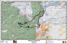 Wildfire Map Manitoba by Squirrel Creek Fire Wildlandfires Info