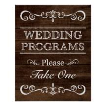 wedding program sign wedding program posters zazzle