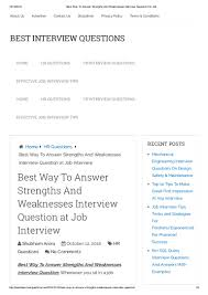 Best Resume Questions by Strengths And Weaknesses Job Interview Customer Service Contegri Com
