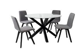 Asda Direct Armchairs Winston Round Dining Table And 4 Chairs Black Dining Tables