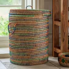 kaisa jute lidded laundry basket laundry jute and bedrooms