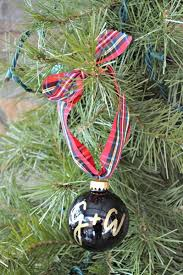 personalized ornaments monogram or initials calligraphed