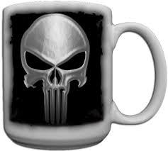 Ceramic Coffee Mugs Amazon Com Punisher Skull Custom Coffee Mug Ceramic From Redeye