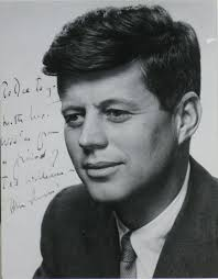 Jfk S Son Lot Detail A Jfk Signed Photo With Deep Ties To Baseball