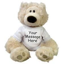 Engraved Teddy Bears Personalized Teddy Bear 12 Inch Gund Philbin Bear Beige Ebay
