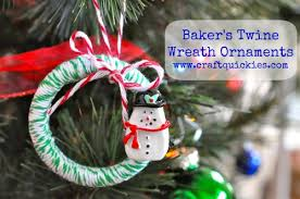 baker s twine wreath ornament tutorial