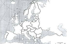 European Map Blank by Miscellaneous Ap European History World War I Documents