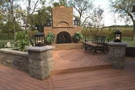 backyard deck designs with fireplace u2014 home ideas collection