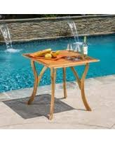 Acacia Wood Outdoor Furniture by Amazing Deal We Furniture Acacia Wood Outdoor Dining Table Brown
