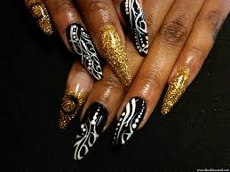 nail designs 2017 black and gold black white and gold nails by