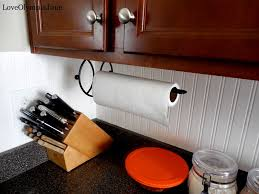 where to put paper towel holder in kitchen