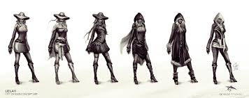lielah character concept sketches by slipled on deviantart
