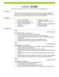 restaurant resume templates free restaurant resume templates server template unforgettable 16 18