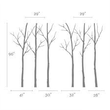 winter tree decal winter tree wall decal