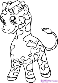 anime giraffe drawing google coloring