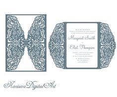 wedding invitation card template quinceanera invitation cutting