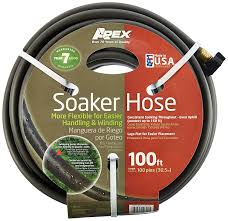 amazon com apex 1030 100 soil soaking hose 100 feet patio