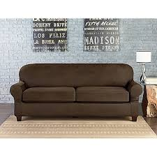 Leather Slipcovers For Sofa Sure Fit Vintage Faux Leather Furniture Slipcovers Bed Bath