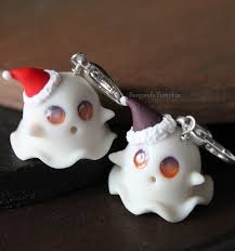 halloween charms custom eye color glow in the dark ghost charm handmade with