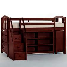 NE Kids Schoolhouse Stairway Loft Bed Chocolate Hayneedle - Ne kids bunk beds