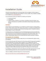 antenna magus installation guide pdf installation computer