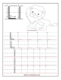 free printable letter u tracing worksheets for preschool free