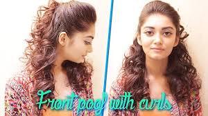 curl in front of hair pic how to front puff with curls hairstyle tutorial youtube