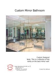 Custom Mirror Custom Glass Works Of Fort Mill Sc Serving North And South Carolina