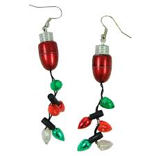 christmas earrings shop magic seasons lighted christmas earrings at lowes