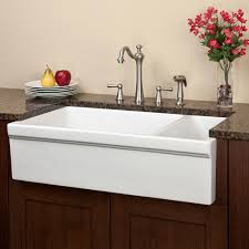 bathroom unusual white rohl farm sink placement with beige acryic