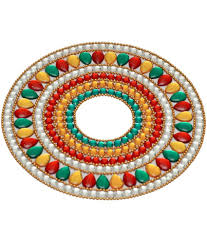 creative home decor round shape single pvc rangoli buy creative