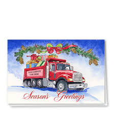 trucking christmas cards with roll off trucks trucking holiday